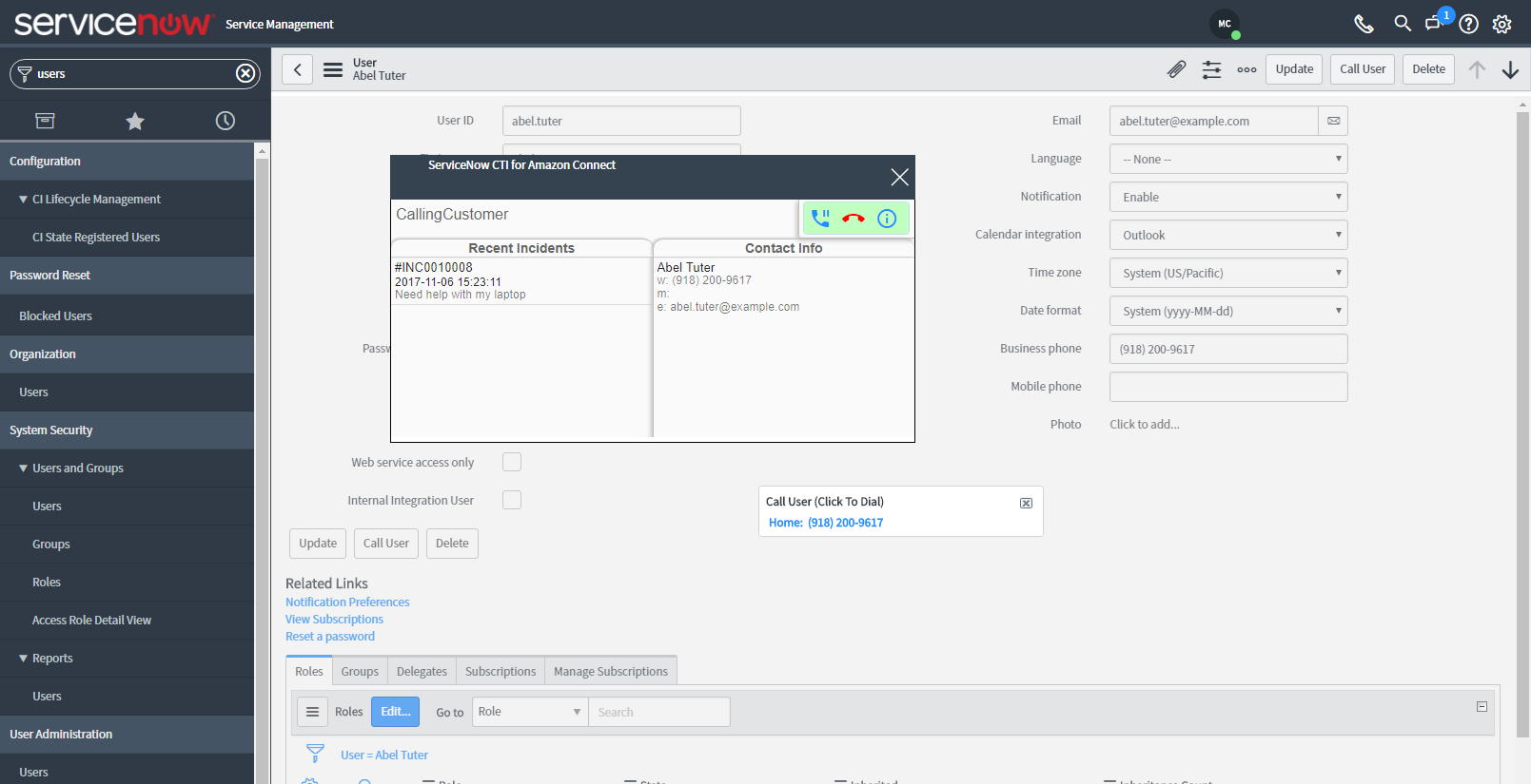 ServiceNow CTI Connector ~ VoiceFoundry